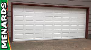 overhead garage door manual garage door how to install menards youtube