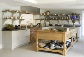 kitchen island with open shelves kitchen rustic kitchen island brass fixture wood countertops