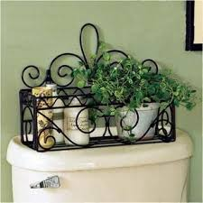 Wrought Iron Bathroom Shelves Baño Moda Hierro Forjado Rústico Muro De Hierro Baño Estante De