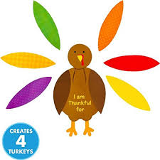 festive fall thanksgiving turkey craft kit