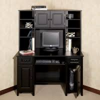 Small Pine Corner Desk Furniture Black Painted Pine Corner Desk With Tall Display