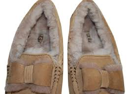 ugg moccasins on sale womens ugg australia chestnut ansley twinface front bow moccasins