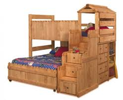 Fort Bunk Bed C Wildwood Size Fort Stairway Loft Bed Cinnamon