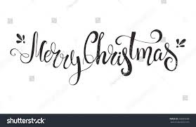 merry unique handdrawn typography poster stock vector