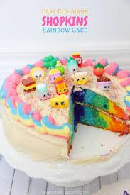 rainbow shopkins cake recipe in the kids u0027 kitchen