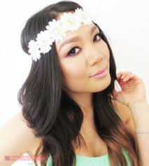 white flower headband gorgeous flower headbands for sale festival fanatics