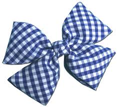 blue bows royal blue gingham hair bow fabric hb035
