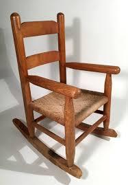 Rocking Chair Philippines Vintage Antique Childs Wooden Rocker Rocking Chair Woven