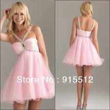 light pink halter dress fashion a line halter beaded short puffy organza light pink