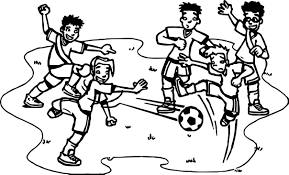 football player playing street soccer coloring page wecoloringpage
