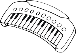 printable outline musical keyboard kids coloring point