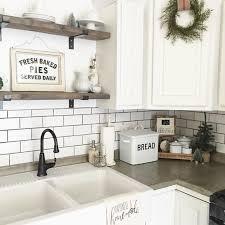 Best  White Subway Tile Backsplash Ideas On Pinterest Subway - Country kitchen tile backsplash