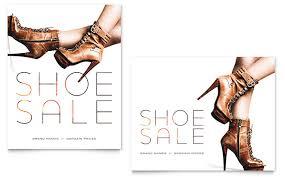 designer shoes on sale designer shoes sale poster template design