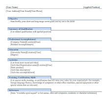 different resume templates different resume formats resume format
