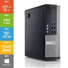 ordinateur de bureau dell pas cher pc bureau dell optiplex 7010 i5 4go ram 128 go ssd disque dur