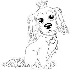 Coloriage chien King Charles a Imprimer Gratuit  Tylsät