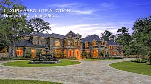 Mini Mansions Homes Luxury Houston Texas Mansion For Sale By Absolute Auction Youtube