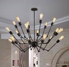 Ceiling Pendant Light Fixtures Adjustable Spyder Chandelier Vintage Edison Light Ceiling Pendant