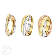 wedding ring brand 9ct russian wedding ring multi tone 3 colour gold band brand new