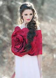 fairytale wedding inspiration rose dress snow white and rose