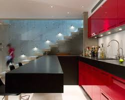 Red Lacquer Cabinets Houzz - Red lacquer kitchen cabinets