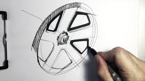 sketching a five spoke wheel for your car sketch youtube
