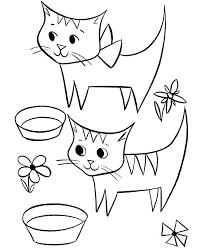 black cat coloring kids coloring