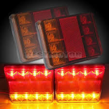 led boat trailer lights waterproof led tail light rear ls pair boat trailer submersible