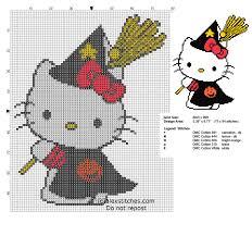 cross stitch pattern hello kitty halloween witch halloween free