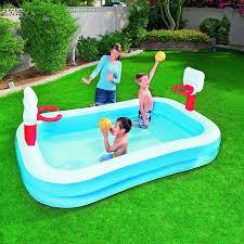 Backyard Inflatable Pool by Amazon Com H2ogo Basketball Inflatable Play Pool Toys U0026 Games