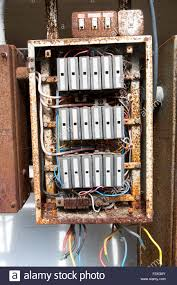 in fuse box wylex standard way fusebox brown wooden frame