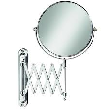 extendable magnifying bathroom mirror state lighted magnifying hardwired wall mirrorextendable mount