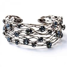 silver cuff bangle bracelet images Konplott jewelry by miranda konstantinidou denim blue studded jpg