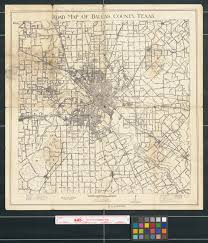 Map Of Dallas County by Road Map Of Dallas County Texas The Portal To Texas History