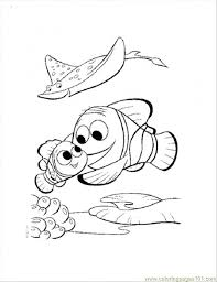 nemo and marlin return home coloring page free finding nemo