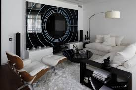 Inspire White And Black Living Room Designs - Interior design black and white living room