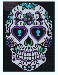 crochet pattern up sugar skull designs crochetville