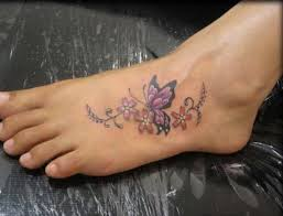 Leg Flower - the 25 best flower and butterfly tattoos ideas on