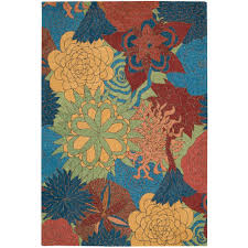 Overstock Com Outdoor Rugs by Nourison Overstock South Beach Deep Sea 8 Ft X 10 Ft 6 In