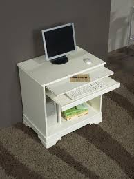 petit meuble de bureau bureau informatique en merisier de style louis philippe laqué ivoire