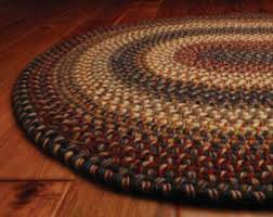 braided rug home spice decor braided cotton real wool rugs