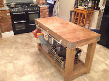 Butchers Block Table EBay - Kitchen butcher block tables