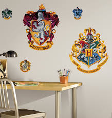 roommates rmk1551gm harry potter crest peel and stick giant wall roommates rmk1551gm harry potter crest peel and stick giant wall decal wall stickers amazon com