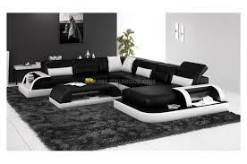 canap d angle contemporain design canapé d angle panoramique en cuir avec table basse assortie offerte max