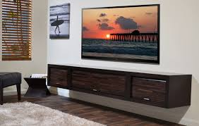 Tv In Living Room Floating Media Shelf Design Homesfeed