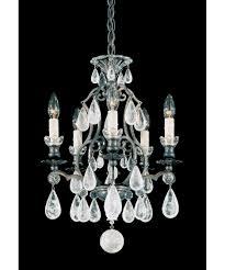 versailles chandelier schonbek 2469 versailles rock crystal 15 inch wide 5 light mini