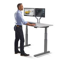 Electric Sit Stand Desk by Standing Workstation Electric Adjustable Height Desk