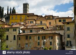 tuscan house old typical tuscan houses in barga with the tower ov the church