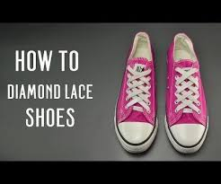 shoelace pattern for vans how to diamond lace shoes