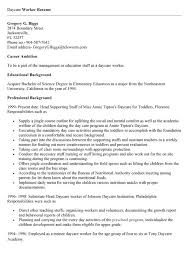 Child Care Assistant Resume Sample Resume Examples For Daycare Worker Resume Sample